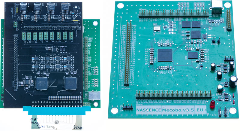4Mecobo with  Mixed Signal daugther board (dm_0111) and Mecobo motherboard (dm_0489)